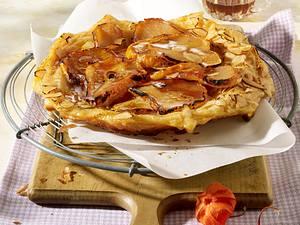 Tarte Tatin mit Birnen und Ahornsirup Rezept