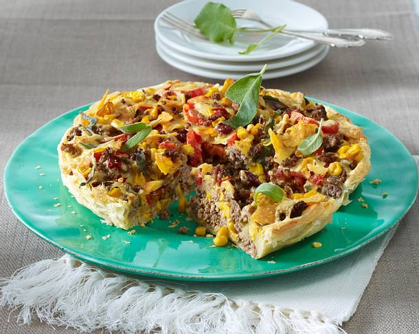 Tex-Mex-Hack-Quiche Rezept