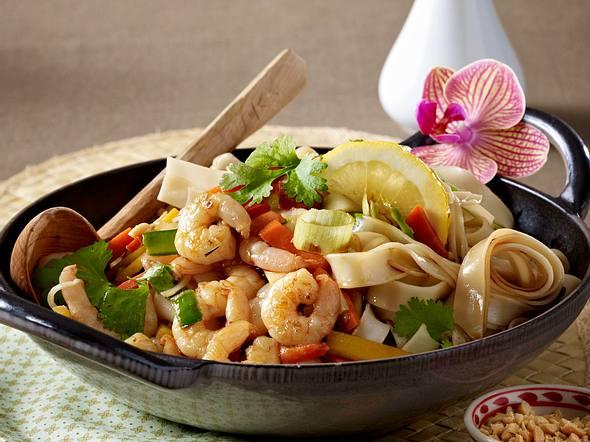 Thai-Pfanne mit Garnelen Rezept