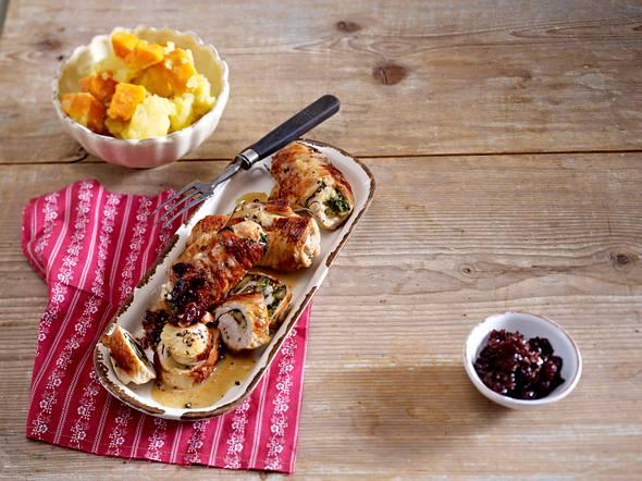 Thanksgiving-Rouladen mit Süßkartoffeln Rezept