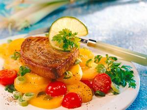 Thunfisch mit mariniertem Kartoffelsalat Rezept