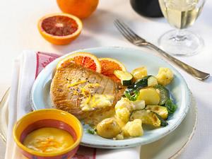 Thunfischsteaks mit Sauce Maltaise Rezept