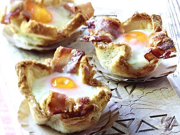 Toastmuffins mit Ei und Speck Rezept