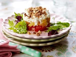 Tomaten-Aprikosen-Türmchen mit Mozzarella Rezept