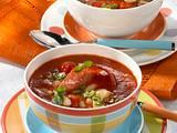 Tomaten-Bohnen-Suppe mit Salami Rezept