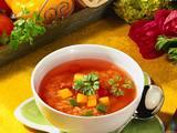 Tomaten-Bouillon mit Reis Rezept