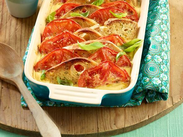 Tomaten-Brotauflauf Rezept
