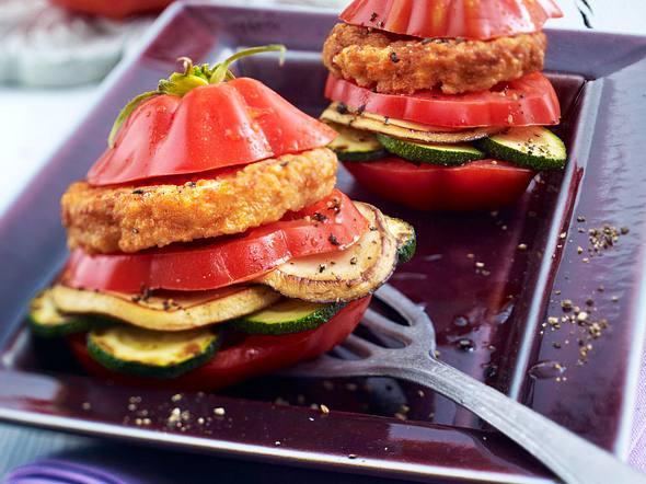 Tomaten-Burger Rezept