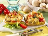 Tomaten-Champignons auf Ciabatta Rezept