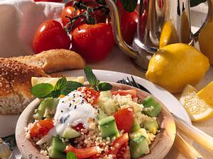 Tomaten-Gurken-Bulgur-Salat Rezept