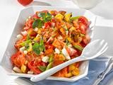 Tomaten-Kartoffelsalat mit Tomaten-Vinaigrette Rezept