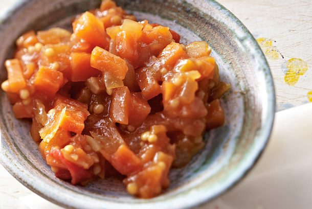 Tomaten-Mandel-Chutney mit Möhren Rezept