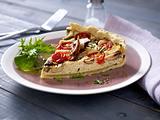 Tomaten-Pilz-Quiche mit Tofuguss Rezept
