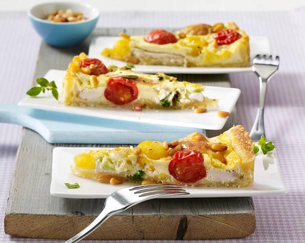 Tomaten-Quiche mit Hähnchenfilet Rezept