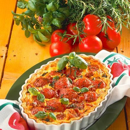 Tomaten-Quiche mit Speck Rezept