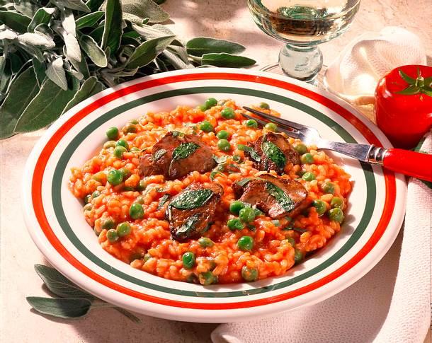 tomaten risotto mit h hnchenleber rezept lecker. Black Bedroom Furniture Sets. Home Design Ideas