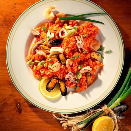 Tomaten-Risotto mit Meeresfrüchten Rezept