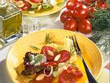 Tomaten-Salat mit Mandeln Rezept