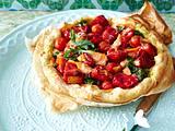 Tomaten-Tarte mit Parmaschinken und Pesto Rezept