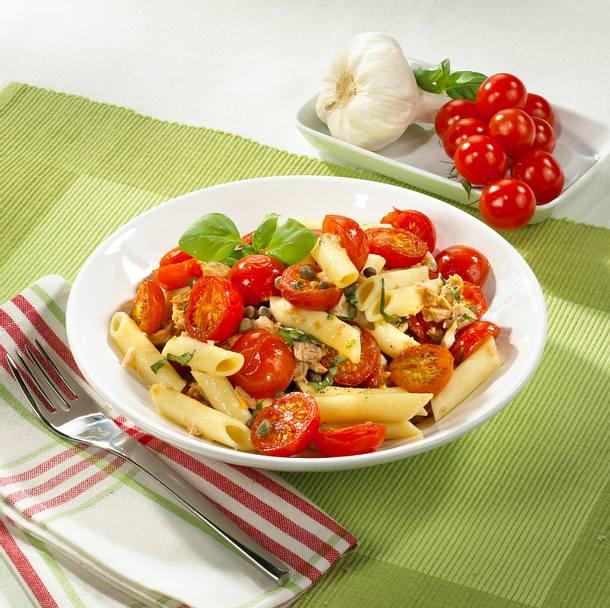 Tomaten-Thunfisch-Nudeln Rezept
