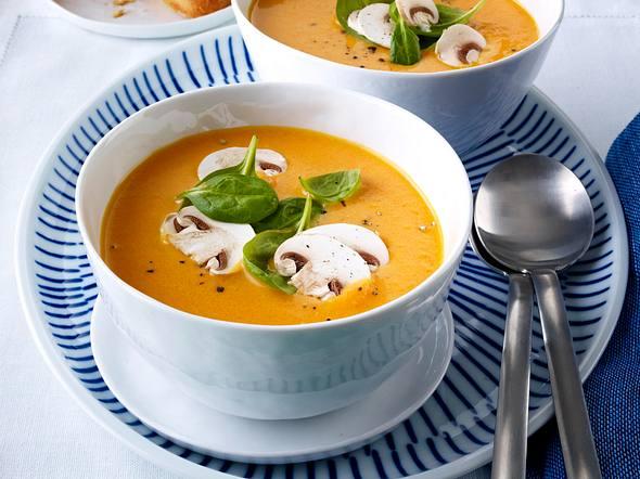 Tomatencremesuppe mit Galganttee Rezept