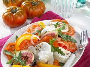 Tomatensalat mit Ziegenkäse Rezept