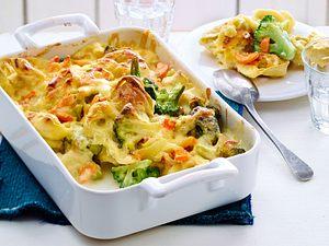 Tortellini-Brokkoli-Auflauf mit Gorgonzolasoße Rezept
