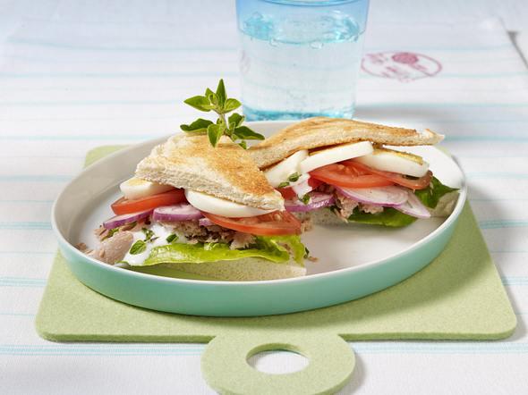 Tramezzini mit Thunfisch, Ei und Tomate Rezept