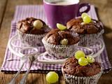 Trauben-Schoko-Muffins Rezept