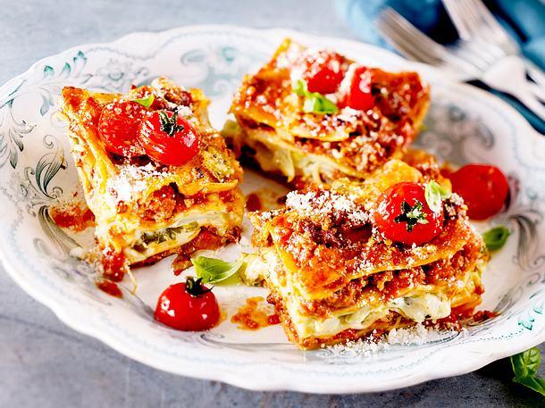Triple-Cheese-Lasagne mit Spitzkohl Rezept-F8596801