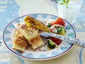 Türkische Fladen mit Kartoffelfüllung Rezept