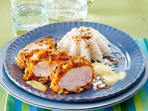 TV Promi Dinner: Hühnerfilet im Gemüsemantel mit Reis von Liliana Matthäus Rezept