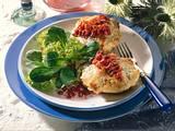 Überbackene Kartoffeln und Salat mit Preiselbeer-Vinaigrette Rezept