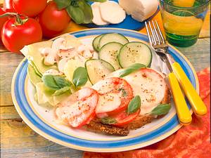 Überbackene Mozzarella-Brote Rezept