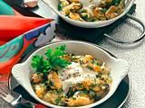 Überbackene Muscheln Rezept