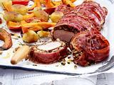 Ummanteltes Schweinefilet mit Kürbis und Kartoffeln Rezept