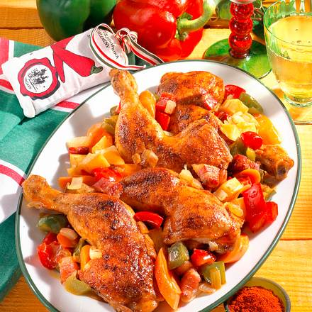 Ungarische Hähnchenkeulen Rezept