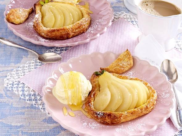 Vanille-Birnen-Tarteletts mit Marzipan Rezept