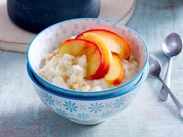 Vanille-Milchreis mit Äpfeln Rezept