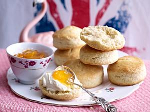 Vanille-Scones mit Orangen-Kumquat-Marmelade Rezept