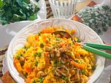 Vegetable Pulao (Gemüse-Safran-Reis) Rezept
