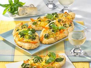 Vegetarische Gemüse-Fladen mit Gorgonzola-Guss Rezept