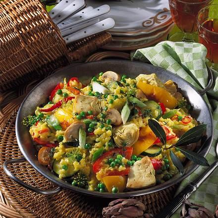 Vegetarische Paella Rezept