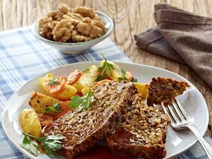 Vegetarischer Walnuss-Braten mit Soße Rezept