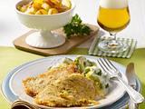 Versteckte Schnitzel mit Bratkartoffeln Rezept