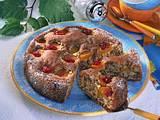 Versunkener Aprikosenkuchen mit Preiselbeeren Rezept