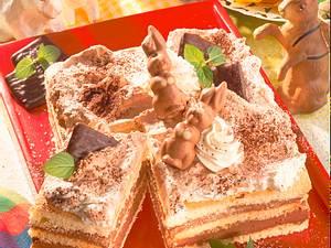 Viereckige Schoko-Mint-Torte Rezept