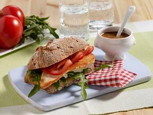Vollkorn-Sandwich mit Schnitzel Rezept