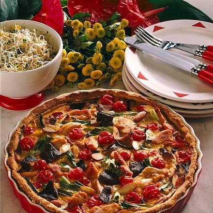 Vollwert Quiche mit Gemüse und Mandeln Rezept
