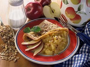 Vollwertpfannkuchen und Apfelkompott Rezept